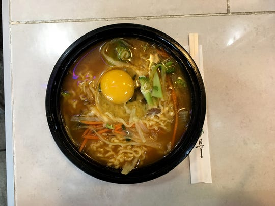The Korean Ramyun is a favorite dish at Bowl 'n' Roll