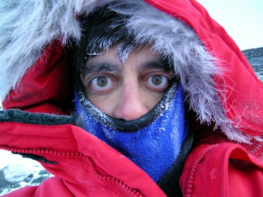 Michael Lampert, a science teacher at West Salem High School is photographed during his stay in Antarctica in 2003.