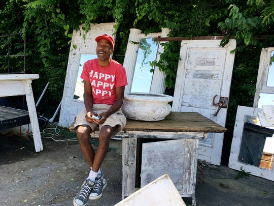 Pat Steele has been a vendor at the  Flea Market for more than 15 years, selling his repurposed creations.