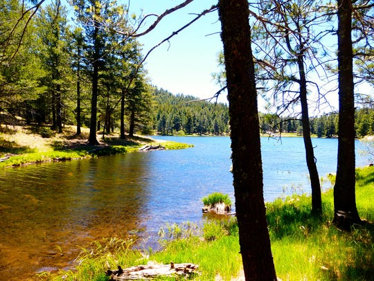 Riggs Flat Lake and adjacent campground are near the