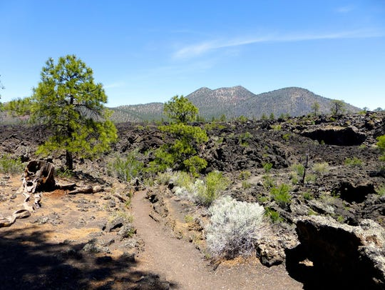The Lava Flow Trail at Sunset Crater is a mile-long