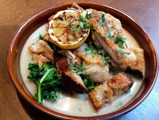 Gray & Dudley: Half Chicken with charred lemon, chicories,