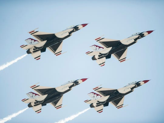 The Thunderbirds performed during the the Great Falls