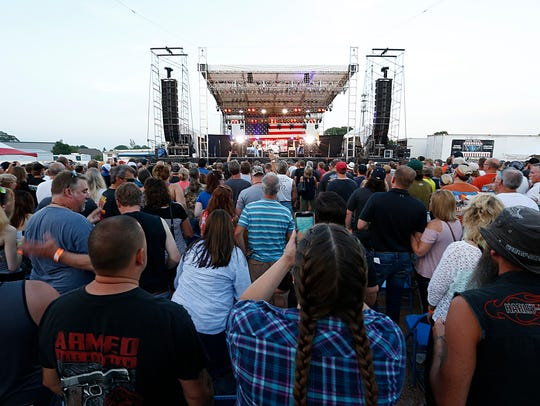 Ted Nugent was the grandstand entertainment July 22,