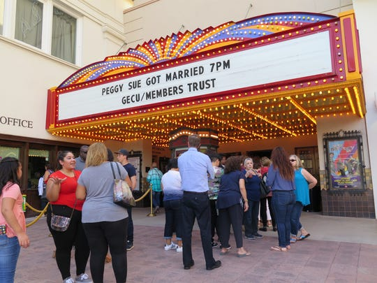"""Fans line up to watch a film titled """"Peggy Sue Got"""