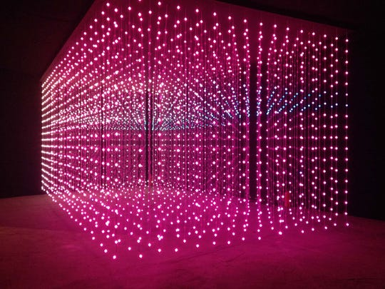 Squidsoup, Submergence, 2016. Interactive LED lightinstallation, 17 × 23 × 33 feet.