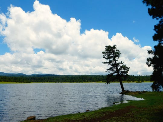Hawley Lake in the White Mountains was the site of