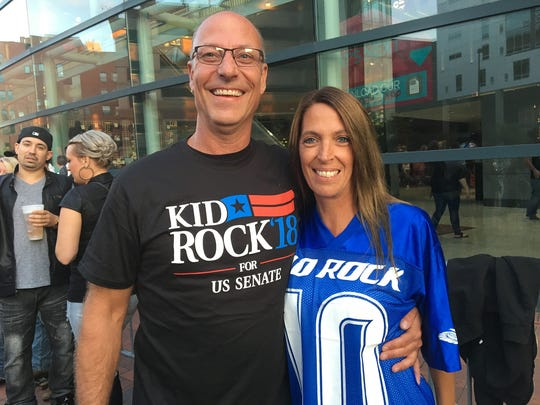 Joe Steffes and his wife, Becky Steffes, of Grand Rapids,