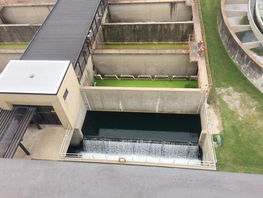 Clean treated water is returned to the Cumberland River.