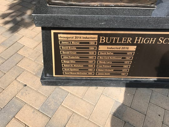 The Butler High School Hall of Honor contains 14 names