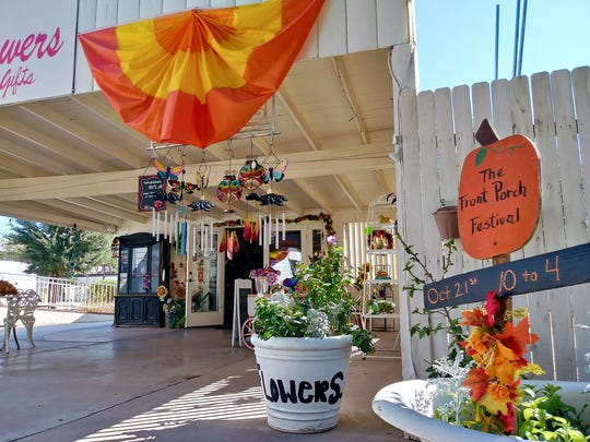 During the Front Porch Festival and Old Towne Marketplace,