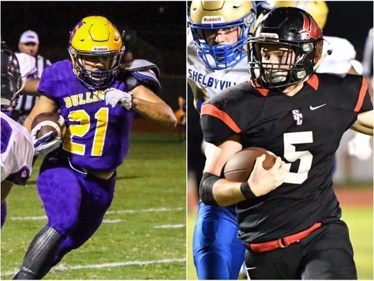 Smyrna's Blake Watkins (left) and Stewarts Creek's