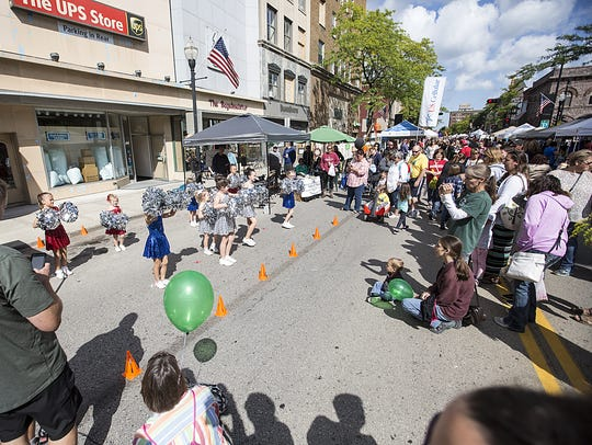 Events such as Fondue Fest bring crowds to downtown