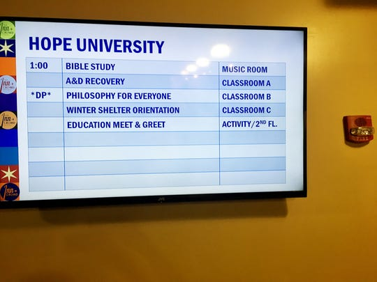 Room in the Inn's Hope University offers more than 800 classes a month for clients, who earn points by attending the classes.