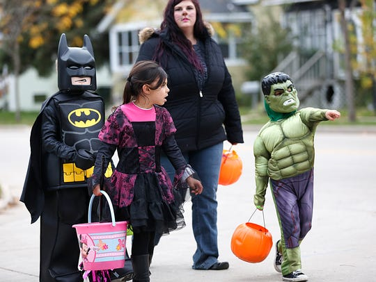 Trick-or-treaters should travel in groups, preferably with adult supervision.