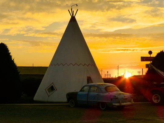 Sleeping at the Wigwam Motel in Holbrook is just one