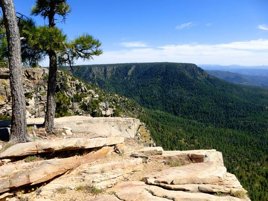 The Mogollon Rim is another geological feature unique