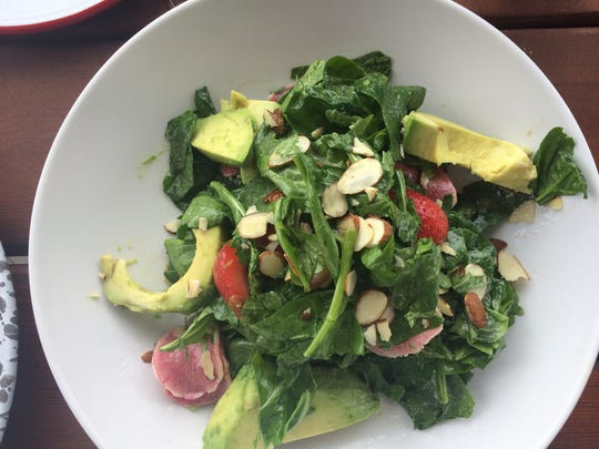 Holler & Dash Biscuit House: Seasonal Greens with avocado,