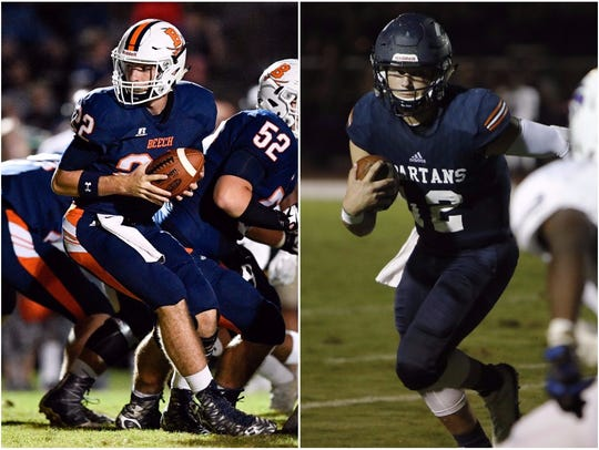 Beech quarterback Nelson Smith (left) and Summit quarterback