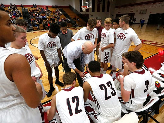 Fond du Lac boys basketball coach Mark Ziebell, above, left the program in 2018. Eric Henry took over the program prior to the 2018-19 season, and now the Cardinals have hired a new coach in Nick Ford.