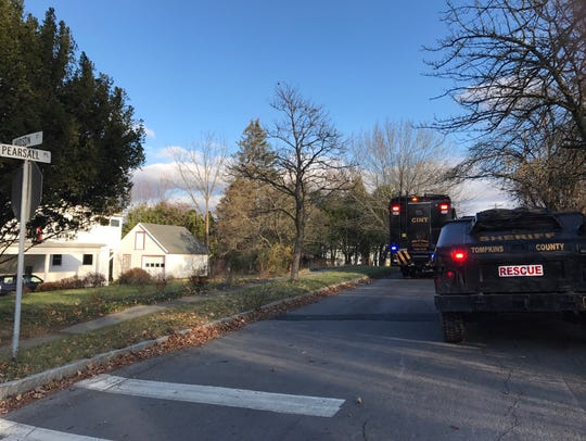 Hudson Street near South Hill Elementary was closed