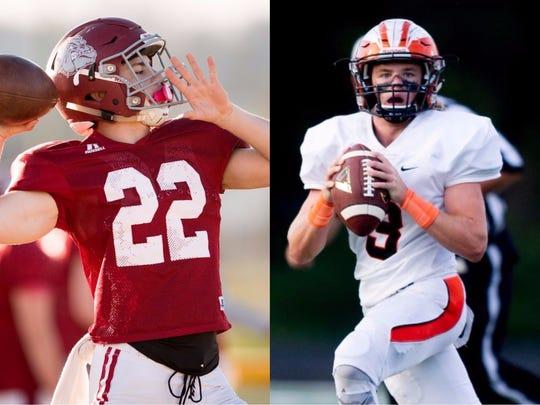 Cornersville's Eli Woodard (left) and Greenback's Bryce Hanley (right)