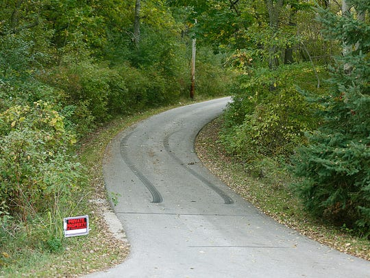 This driveway on Golf Course Road, east of Fond du