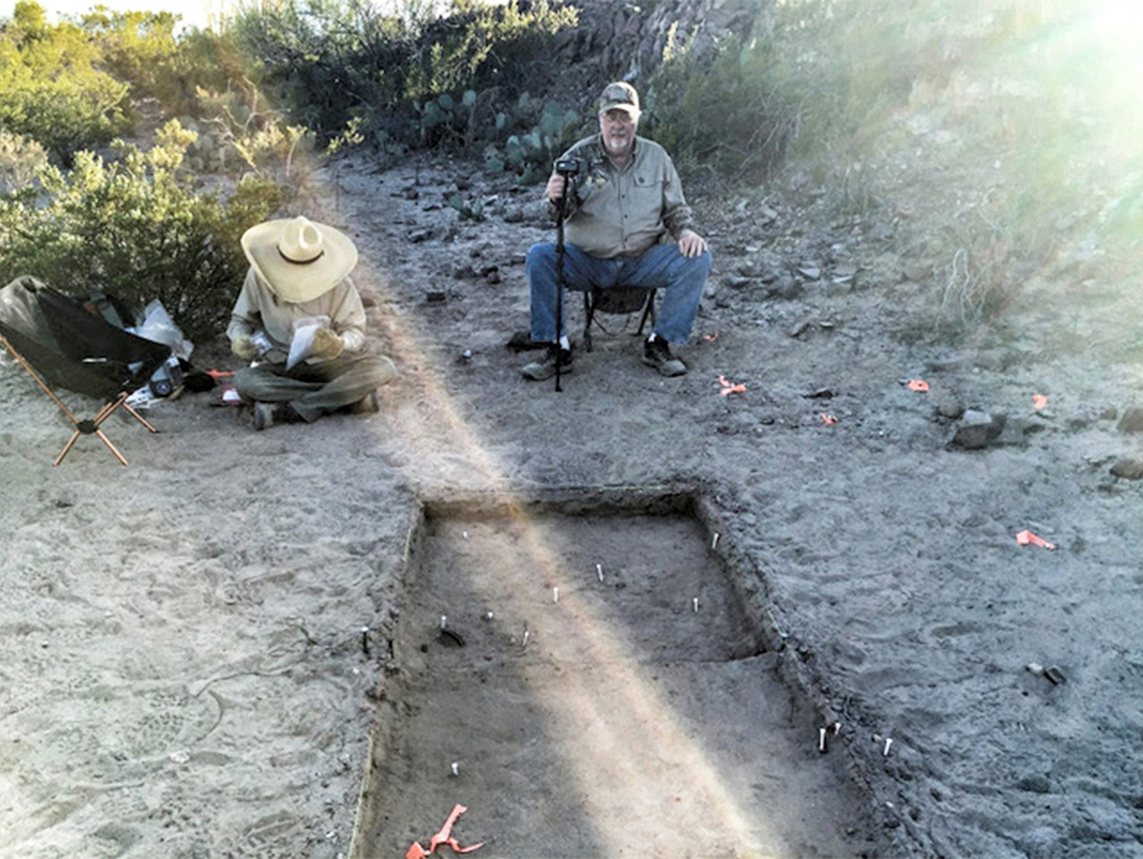 An archaeological dig is conducted in November 2015