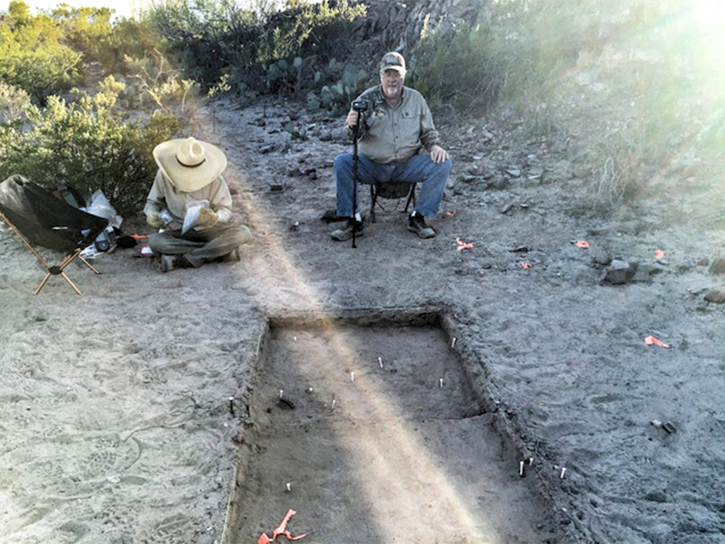 An archaeological dig is conducted in November 2015 at the Porvenir massacre site.