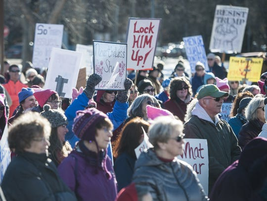 A little fewer than 300 people gathered this past Saturday for the Rise Up Montana event, which began at the Gibson Park bandshell and ended at the YWCA.