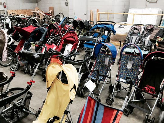 The seasonal children's consignment sales offer great deals on equipment like strollers.