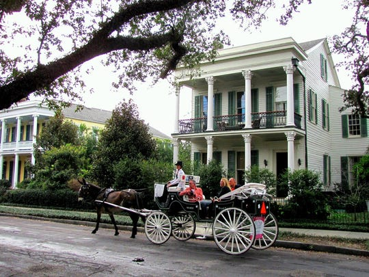 Considered one of the best-preserved collections of historic Southern mansions in the country, the Garden District in New Orleans, La., escaped flooding from Hurricane Katrina in 2005. Though the frat-boy ambience of the French Quarter's iconic Bourbon Street may not scream romance, New Orleans offers a wealth of valentine-worthy experiences that don't involve strip joints or neon-hued daiquiris - and that won't bust a modest budget. (Gannett, Laura S. Bly/USA Today)