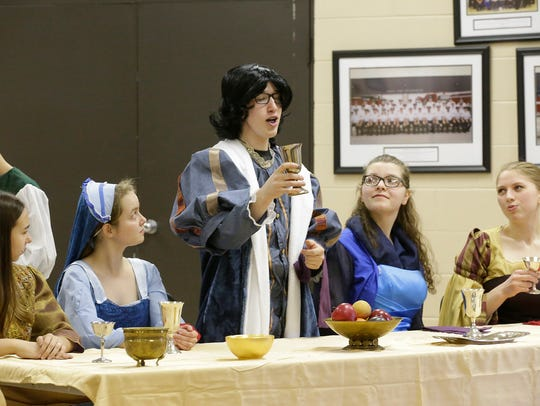 """Children rehearse """"The Prince and the Pauper"""" on Feb."""