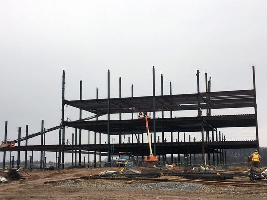 Steel goes up at the UPMC Pinnacle Memorial project