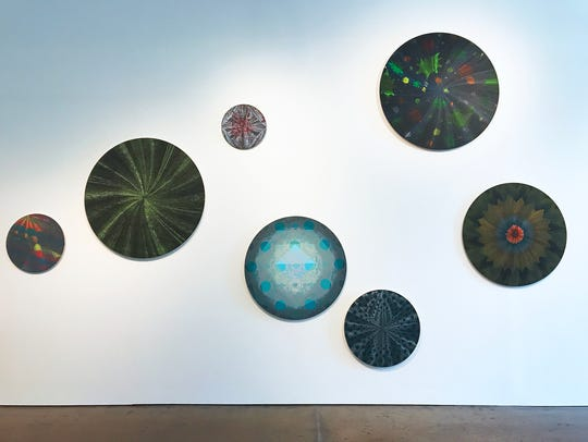 "Installation view of ""Stars Align,"" by Kelly S. Williams."