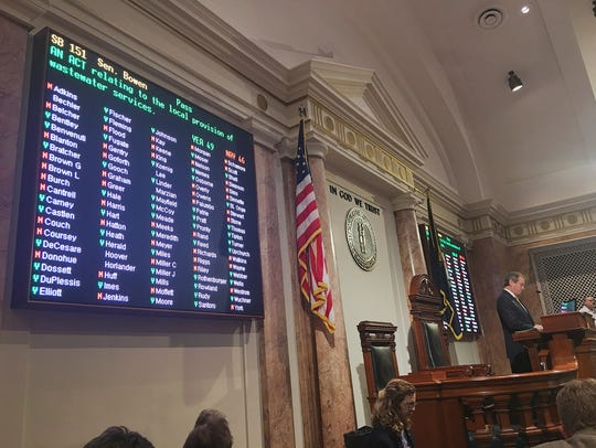 Vote in House chambers on Senate Bill 151, which contained