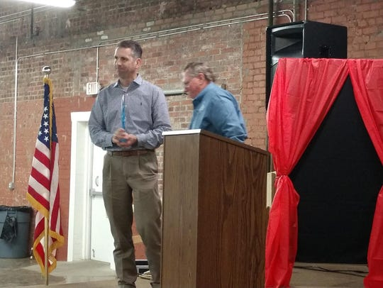 Brandon Anderson, left, received the Dr. Josh Kimbrough Distinguished Alumnus Award at the Boys & Girls Club annual recognition dinner.