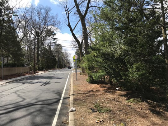 Portion of Dwasline Road where the proposed Shomrei Torah temple will be built in Clifton.