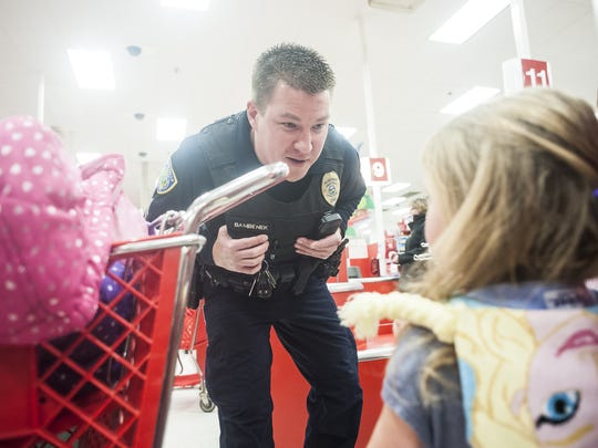 Detective Scott Bambenek during the 2015 Shop With a Cop.