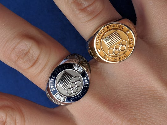 Summer Britcher's Olympic rings. Britcher, an all-time leader in U.S.A. luge singles who competed in the 2018 Olympics, met with fans and was honored during the York Revolution's game on Sunday.