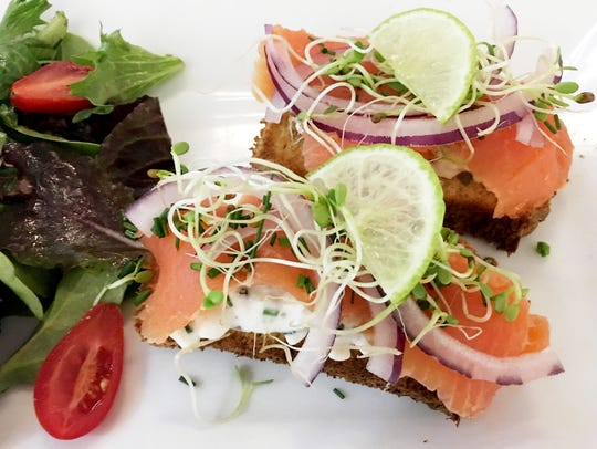 Voila Smoked Salmon toast is making an appearance on