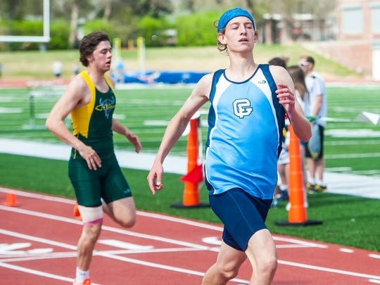 Great Falls' Jacon Van Every finishes the 100-meter