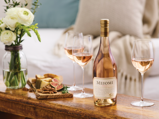 The 2017 Meiomi Rosé was made in California's Monterey
