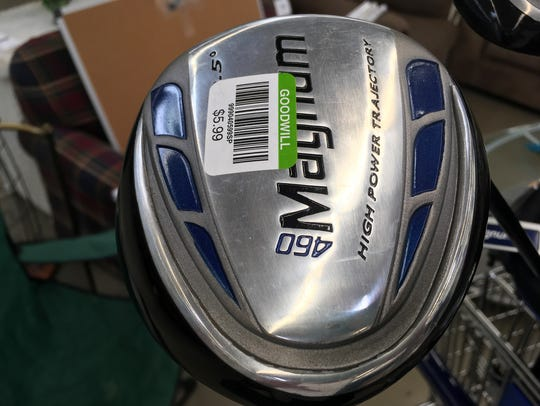 Golf equipment can be a real bargain at Goodwill stores.