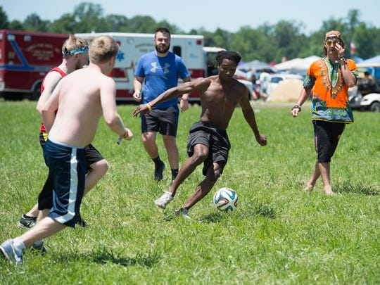 Firefly Music Festival set up a soccer field in the north camping area this year in response to a request from festivalgoers.