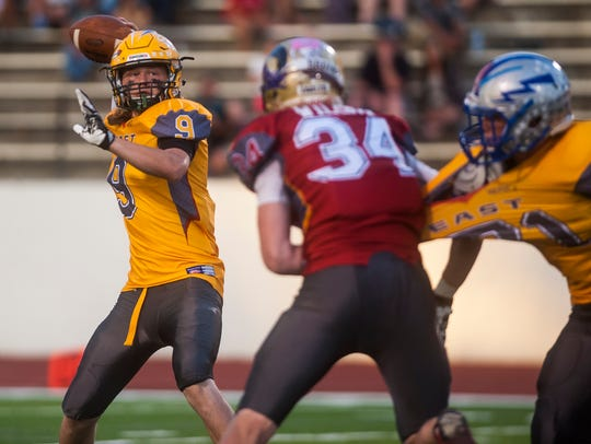 East's Garrison Rothwell looks to pass during the Shrine