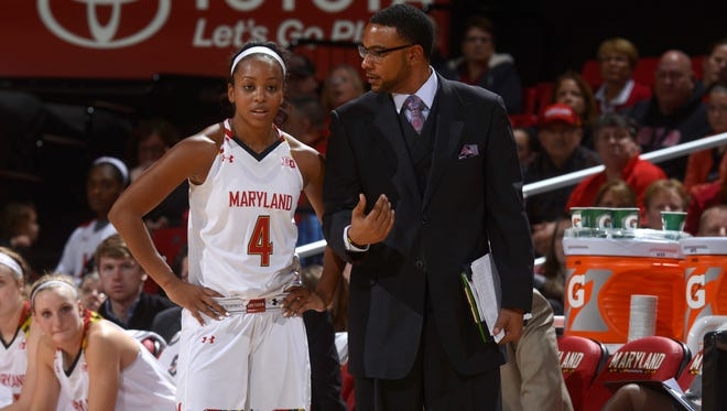 Maryland assistant basketball coach Shay Robinson is a former assistant coach at Eastern Florida State College, as well as Viera High School. Maryland will play against UConn in the women's Final Four on Sunday.