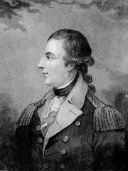 Engraving of Richard Montgomery, for whom the city is named.
