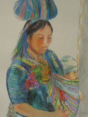 """""""Mother and Child"""" by Patricia Stockmeyer."""