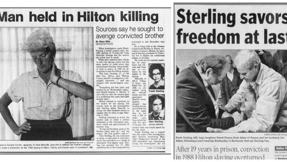 Two Democrat and Chronicle stories on Frank Sterling,
